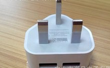 Wholesale factory supply 3 pin plug uk adapter dual usb wall charger for smartphone