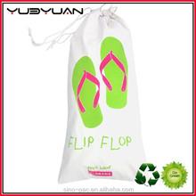2015 Hot Sale New Style Recyclable Folding Shoes Drawstring Bag Mesh Football Drawstring Bag Shoe Bag