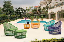 2015 Garden furniture New design rattan sofa/lounge Colorful wicker outdoor furniture