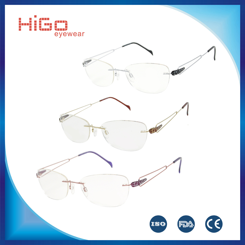 Rimless Glasses Nylon : 2015 New Fashion Metal Glasses Nylon Rimless Women Men ...