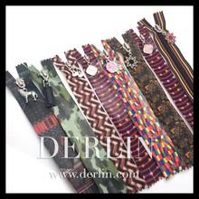 Pattern Customisation Custom Designer 2015 New Water resistant Waterproof zipper
