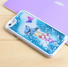Quicksand Shining Glitter Butterfly Liquid For iPhone Case