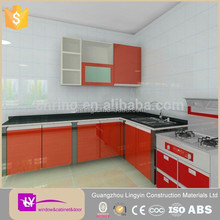 Durable small kitchen cabinets designs with cheap price