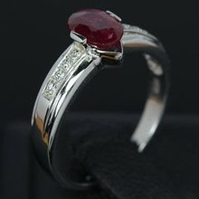 The Ring Gem Stone 925 Silver RUBY Sterling diamond Design 2.32 GRAM