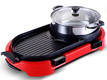 hot selling convection hot pot with bbq grill competitive price HJ-BBQ002