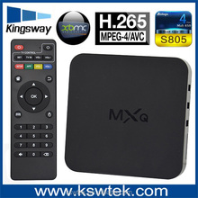 2015 cheapest full loaded 14.2 quad core mxq amlgoic s805 mxq android tv box