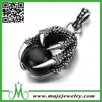 Dragon claw christmas-pendant with black bead popular style