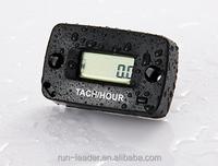 Digital Resettable Inductive Tachometer Hour Meter Used For Any Gasoline Engine 2/4 Stroke,Motocross,Pit Bike,Generator,Glider