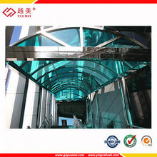 Clear policarbonate canopy manufacturer polycarbonate awning brackets