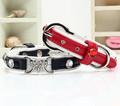 bon pour les chiens de coeurs collier de chien en cuir pour animaux de compagnie gros collier de chien colliers zqqs002