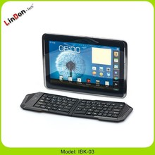 Folding Bluetooth wireless keyboard for iPad/iPhone/samsung,Smartphones, HTPC, PC, and PS3 Game Player, Media player tv box