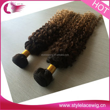 2015 new fashion Vigin Human Ombre Hair Brazilian Braiding cheap Hair 8A Different Types Of Curly Hair