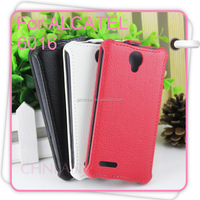 Hot Selling Business Series THermoforming Cases For Alcatel One Touch Idol 2 Mini 6016 6016D Luxury PU Flip Leather Phone Case