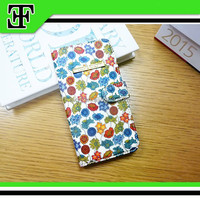 Hot selling beautiful flower leather mobile cell phone case covers for phone