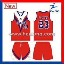 Healong Manufacturers Latest Design Basketball Uniform Images