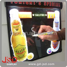Acrylic Aluminum LED acrylic/Aluminum/LED metal clear led advertising wall signs