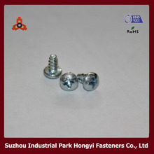 Philips Recessed Pan Head M6 Self Tapping Screws With Knurling DIN7981