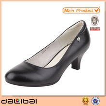 low heel fashion lady genuine leather dress shoes for women