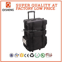professional soft sided makeup artist case with drawers and tissue bag nylon makeup trolley beauty carring case