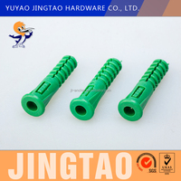 Coach screws with green expansion plastic plug