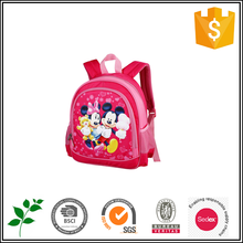 Red cute kids backpack shcool bag with Mickey Mouse