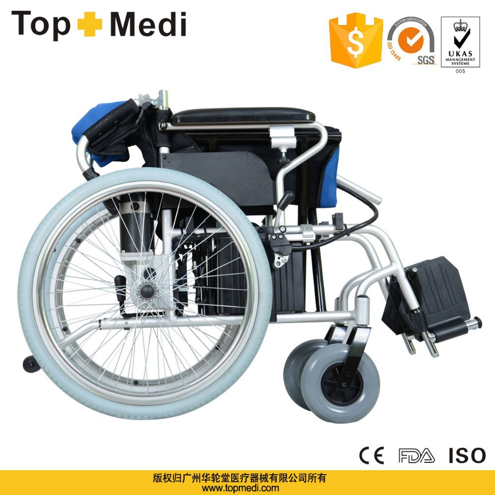 Economic folding wheel chair electric power wheelchair for for Motorized chairs for sale