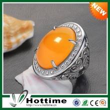 Wholesale Multi Colorful Big Stone Emerald Ruby Diamond Yellow Sapphire Ring