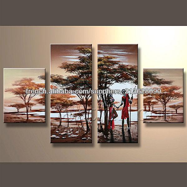 Populaire moderne la main d coratifs peinture acrylique for Peinture acrylique moderne
