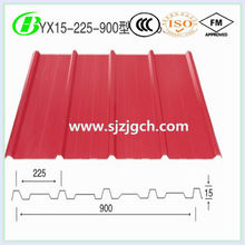 red steel building material