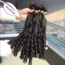 Top Quality Indian 100% Remy Human Hair Extensions Tip Curly Fumi Aunty Hair
