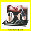 Hot Selling Custom black cosmetic display stand with poster