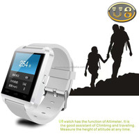 2015 Cheapest price of U8 bluetooth watch for Christmas gift