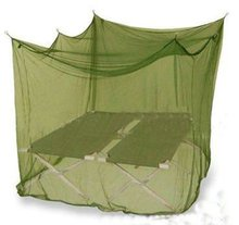 insecticide treated square army/military mosquito nets bed double mosquito net