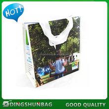 Economic branded pp woven waterproof beach shopping bag