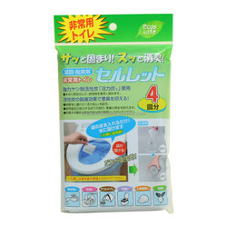toilet bowl freshener/Used anywhere, at any time without water/Quickly suppress the bad smell/Disposed as combustible garbage