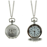 2012 latest long chain pocket crown watch necklace