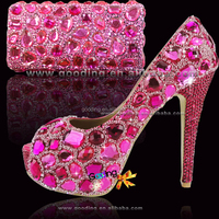 new sexy handmade fuchsia high heel shoes