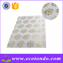 New arrival manufacturer snow designer glitter wrapping paper for christmas gift