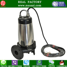 Single stage and single suction pipeline centrifugal sewage pump / grundfos submersible pump