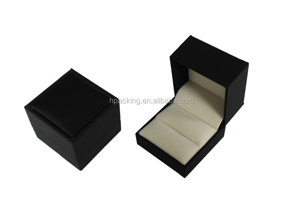 wholesale black jewelry box high quality ring gift box