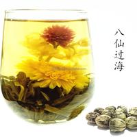 Ba xian guo hai beautiful art flower tea made of flowers