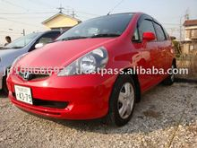 Japanese Used Cars HONDA Fit LA-GD1 Red 58,000km
