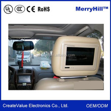 """Headrest/ Pillow Placement 7"""" 8"""" 9"""" 10 Inch Car TFT LCD Monitor For Entertainment"""
