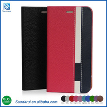 New stylish design Card holder stand case For Samsung galaxy note 5 Book stand wallet leather flip cover