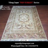Special design hand knotted 260L pure silk rug handmade rugs egypt