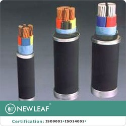 Fire resistant XLPE insulated PVC sheathed electric power cable with copper conductor