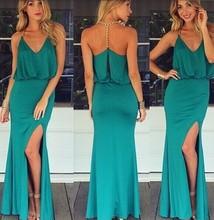 New Mature Ladies Women's Backless Sleeveless Beautiful Leg Open Party Dress Sv021399