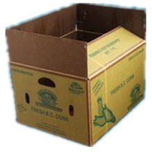 Custom Logo Printed Rectangle Frozen Waxed Corrugated Lettuce Boxes