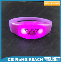 China manufacturer & supplier party items Colorful led blinking bracelet
