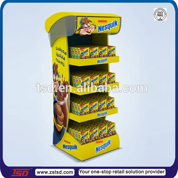 Tsda40 Custom High Quality Floor Plastic Milk Product Display Best Product Displays Stands